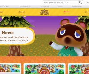 Animal Crossing Switch Website